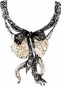 fashion lace and bow design