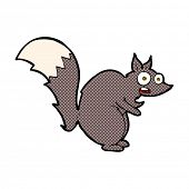 funny startled squirrel retro comic book style cartoon