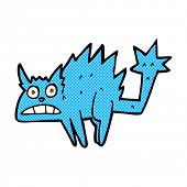 retro comic book style cartoon frightened cat