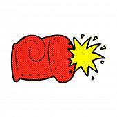 retro comic book style cartoon punch
