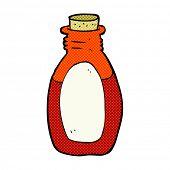 retro comic book style cartoon potion