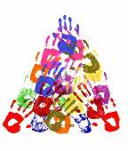 Pyramid Of Handprints