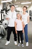 Happy Family At Gym