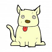 foto of sticking out tongue  - retro comic book style cartoon dog sticking out tongue - JPG