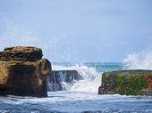image of tanah  - Amazing landscape at the Tanah Lot temple in Bali Indonesia - JPG