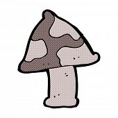 stock photo of toadstools  - retro comic book style cartoon toadstool - JPG