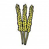 retro comic book style cartoon corn