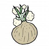 retro comic book style cartoon onion