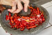 pic of pestle  - Making sambal - JPG