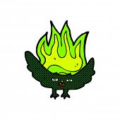 retro comic book style cartoon spooky vampire bat