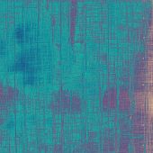 Old designed texture as abstract grunge background. With different color patterns: blue; cyan; purple (violet)