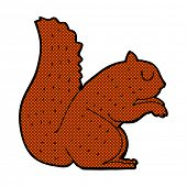 retro comic book style cartoon squirrel