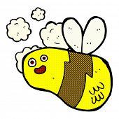 retro comic book style cartoon bee