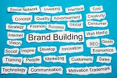 Word Brand Building On Piece Of Torn Paper