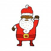 retro comic book style cartoon angry santa claus