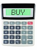 Calculator With Buy On Display