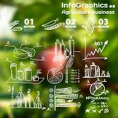Infographics With Blurry Photographic Background On The Topic Of