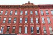 Brooklyn brickwall building facades in New York NY USA