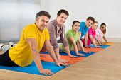 Multiethnic Group Of Friends Exercising