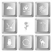 Nature set. Vector set computer keys.