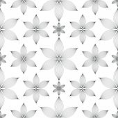 Elegant Linear Floral Seamless Pattern