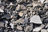 Pilha de asfalto