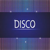 Disco party background. Space for your text