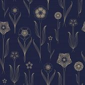 Delicate Seamless Floral Pattern Background