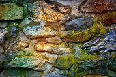 Old stone wall - abstract background