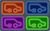 colorful electrical vehicle set