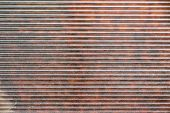 Red-brown Fragment Of Metal Blinds