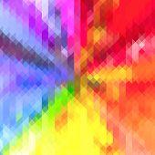 Rainbow Colored Triangle Geometric Star Pattern Background