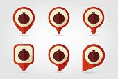 Garnet Mapping Pins Icons