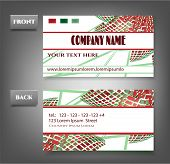 Elegance, modern business card - front, back with flowers
