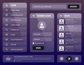 Modern Purple Mobile User Interface Design