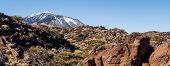 Panoramic View Of Volcano Teide, Tenerife. Canary Islands