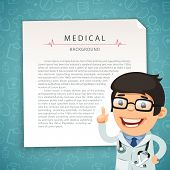 stock photo of aquamarine  - Aquamarine Medical Background with Doctor - JPG