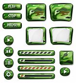 Military Camo Icons Elements For Ui Game