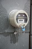 Ice covered meter
