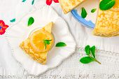 picture of curd  - blinis pie with the lemon curd - JPG