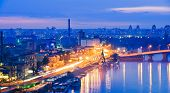 Night Panorama Of Kiev.