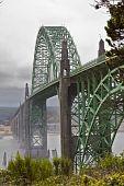 Misty Bridge  With Foreground