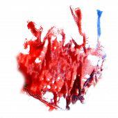 macro spot blotch burgundy, blue texture isolated on white textu
