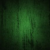 Grunge Green Background With Ancient Ornament