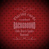 Playing, Poker, Blackjack Cards Symbol Background Sample Text