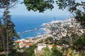 Aerial View At Funchal From The Mountains Of Madeira Island