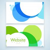 Website header or banner set with abstract design for your business.