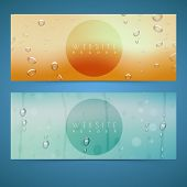 Website header or banner set with water drop for your business.