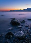 Rocks and blue hour