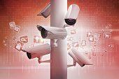 CCTV camera against computer applications